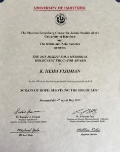 Zola Certificate